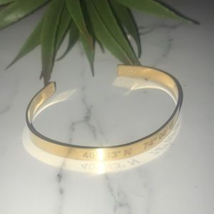 New Gold Filled Lat & Lo Latitude Cuff - New York